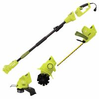 Sun Joe Electric Lawn Care System | Pole Hedge Trimmer | Grass Trimmer | Tiller