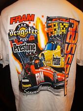 NHRA Men's X-Large T-Shirt Massey Dragster Racing Fram Preston Drag Top fuel