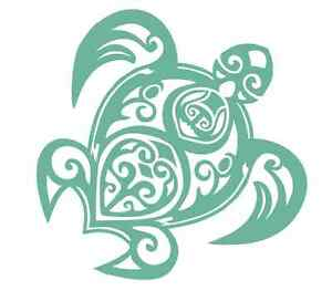 Tribal Style Sea Turtle 562 - Vinyl Sticker / Decal / Stencil - Made to Order