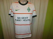 """Werder Bremen Original Nike Auswärts Trikot 2009/10 """"SO GEHT BANK HEUTE"""" Gr.S- M"""