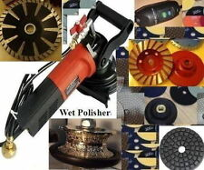 "Wet stone Concrete Polisher 3/4"" 1 1/2"" Full Bullnose grinding cup convex blade"