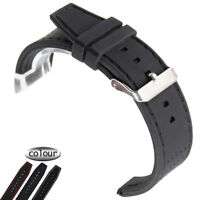 Watch Band Strap Men's 22mm Waterproof Diving Silicone Rubber SS Buckle Bracelet