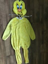 CHILD TWEETY BIRD LOONEY TUNES GIRLS FANCY DRESS BOOK WEEK COSTUME AGE 5-7