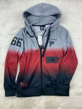 NFL Atlanta Falcons Full Zip Ombre Hoodie Gray Red Black, Women's M NWT $65