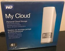 WD My Cloud 4TB Personal Cloud Storage NAS Networked External Drive NEW SEALED