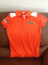 la coste sport miami open tennis polo shirt orange  size 36 women's