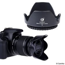 Collapsible Rubber Flower Tulip Lens Hood Sun Shade Canon Eos Digital T7i 6 58mm