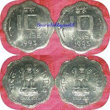 Scare 10 Paise Definative Coin ( 2pc ) BUNC Kolkata Mint = 1993