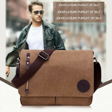 New Men's Vintage Canvas Schoolbag Satchel Shoulder Messenger Bag Laptop Bags