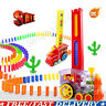 Domino Rally Electronic Train Model Kids Colorful Toy Set With Sound Toys Gift❤