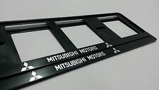 2X MITSUBISHI EUROPEAN LICENSE NUMBER PLATE SURROUND FRAME HOLDER.