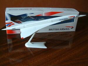 BA Concorde Airplane Model Aircraft G-BOAC Union Flag British Airways Genuine Sp