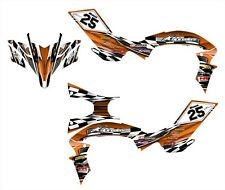 2009 2010 2011 2012 2013 Yamaha YFZ450R graphics sticker kit NO2500 Orange