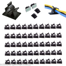 50x Auto Car Wire Cord Cable Tie Clips Fixer Fastens Organizer 3M Adhesive Clamp