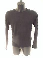 T-shirt Roberto Cavalli,colore nero con inserti in pelle,tg 50