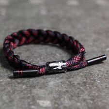 BAIT x Bruce Lee x Rastaclat Shoelace Bracelet - Dragon black red