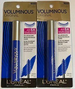 Loreal Voluminous Original Mascara, 900 Cobalt Blue, 2 Pack