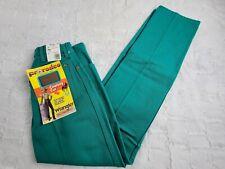 Vtg Wrangler Pro Rodeo Jeans Womens Size 7 Cowboy Cut Straight Leg Green Usa Nwt