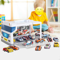 Car Parking Storage Box With 15 Cars Garage Car Model Toy Gife for Christmas