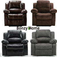 Oversize Recliner Chair Heavy Duty Sofa Couch Leather&Velvet Lounge Padded Seat