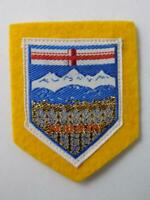 ALBERTA CANADA COAT OF ARMS VINTAGE  HAT PATCH SOUVENIR BADGE COLLECTOR