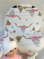 Stretchy Car Seat Canopy Multi Use Cover Baby Beanie Carrying nursing coverNEW,