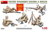 Miniart 35233 - 1/35 Building Soviet Soldiers Taking a Breac Plastic Model Kit