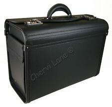 New Black Business Briefcase Executive Laptop Travel Flight Pilot Bag Carry Case