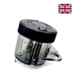 Universal Motorcycle Motorbike Front Brake Fluid Reservoir Oil Tank Cup Black UK