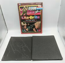 Lite Brite Picture Refill Pack GI Joe 11 Pictures 24 Guide Sheet 1982