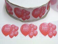 Cake Craft  RIBBON Decoration Birthday Cake - 50mm - HAPPY BIRTHDAY Pink -1m