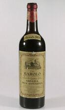 PRL) VINO ROSSO RATTI WINE BAROLO 1962 ABBAZIA ANNUNZIATA COLLEZIONE COLLECTION