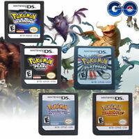 Pokemon Platinum Diamond HeartGold SoulSilver Game Cards 3DS NDSI XL USA Version