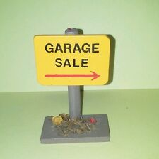 Garage Sale Sign For Your Dollhouse Miniature Doll Wimsical Addition Yellow