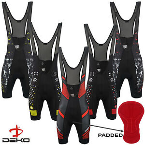 DEKO Mens Cycling Bib Shorts Breathable Padded Bicycle Tight Racing Fit Pants