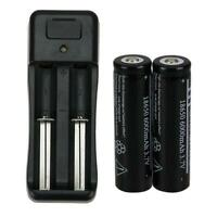 2X Battery 3.7V Li-ion Rechargeable Batteries + Charger 18650 6000mAh Ultra Fire