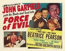 FORCE OF EVIL Movie POSTER 27x40 B John Garfield Thomas Gomez Marie Windsor
