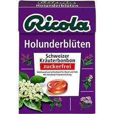 Ricola Holunderblüten ohne Zucker, Bonbons, 20x50 g Bx.