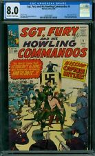 Sgt. Fury and His Howling Commandos 9 CGC 8.0 - OW/W Pages