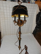 Vintage French bouillotte wall sconce three arm light, lamp 1960's-1970's