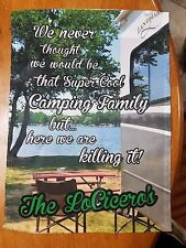 Personalized Camping Garden Flag
