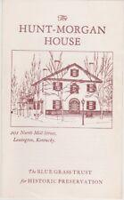 1970's Hunt Morgan House Lexington Kentucky Brochure