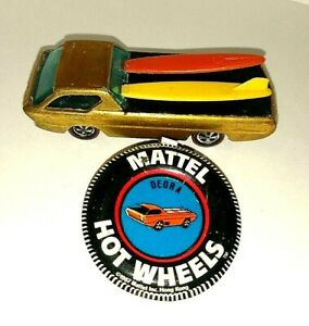 VINTAGE HOT WHEELS REDLINE DEORA with Original Badge and SURFBOARDS