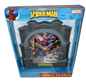Marvel Comics The Amazing Spiderman Wall Clock Youth Child