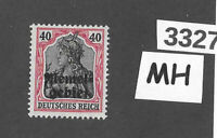 #3327    PF40  MH stamp Sc08 1920 Memel / Lithuania / Prussia / Germany WWI