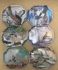 "More details for 6x vintage metal elite trays - england  - birds flight wildlife sky design  7x6"""