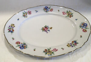 "Vintage Hutschenreuther Selb Bavaria Germany US Zone 9"" X13"" Serving Platter 067"