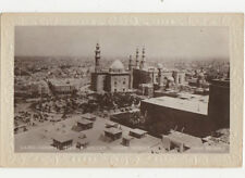 Cairo General View & Sultan Hassan Mosque Egypt Vintage RPPC Postcard US008