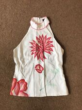 French connection size 6 embroidered halter neck top