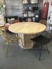 Graham & Green Round Rattan Dining Table